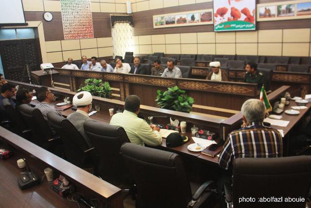 جلسه هماهنگی جشن زیر سایه خورشید در فرماندار مهریز برگزار شد
