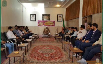حضور جمعی از اعضای هیأت در دفتر امام جمعه به مناسبت عید سعید غدیر